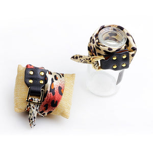 Orange Coffee Leopard Bracelet