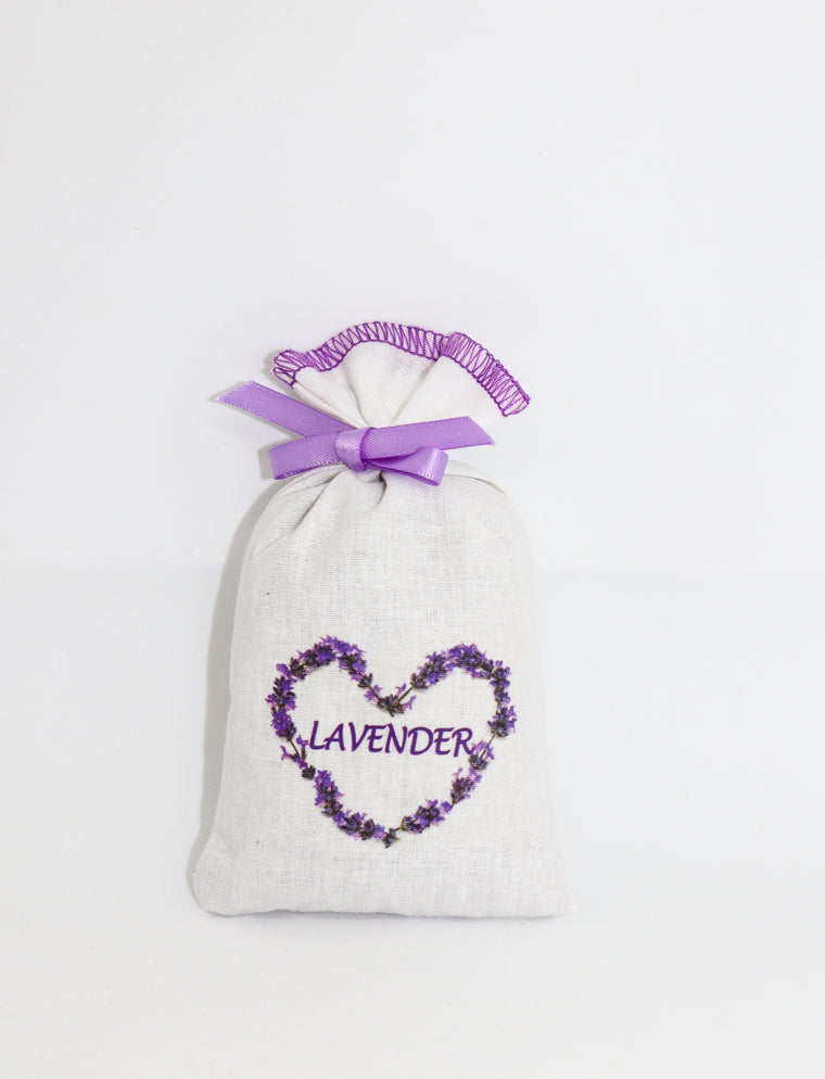 Lavender Cotton Pouch