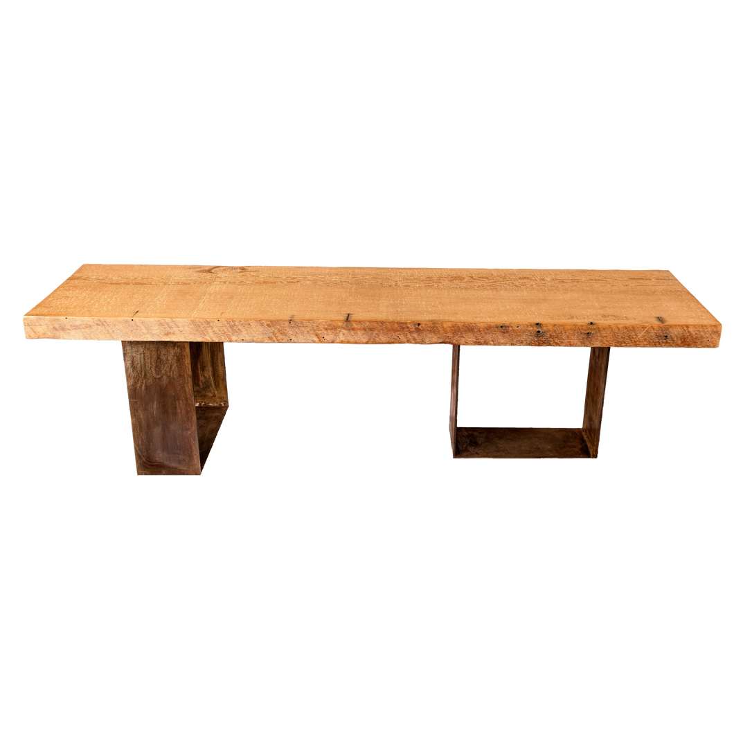 Modern Rustic Wood Bench
