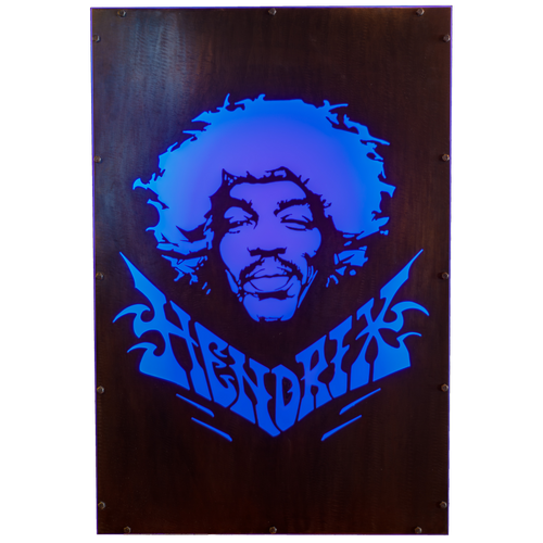 Illuminated Jimi Hendrix