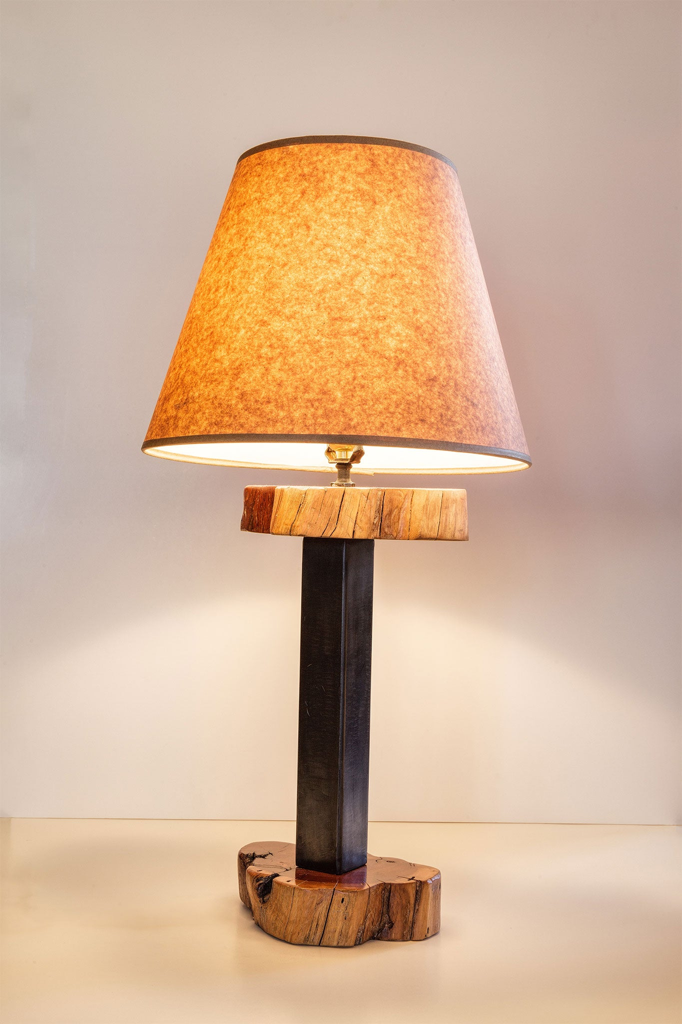 Wood steel table lamp lake tahoe designs wood steel table lamp wood steel table lamp aloadofball Image collections