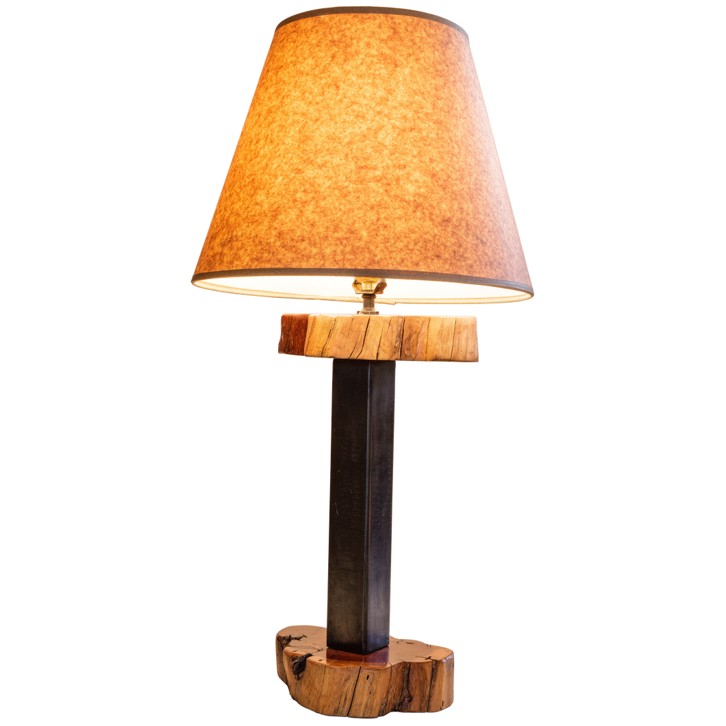 Wood Steel Table Lamp