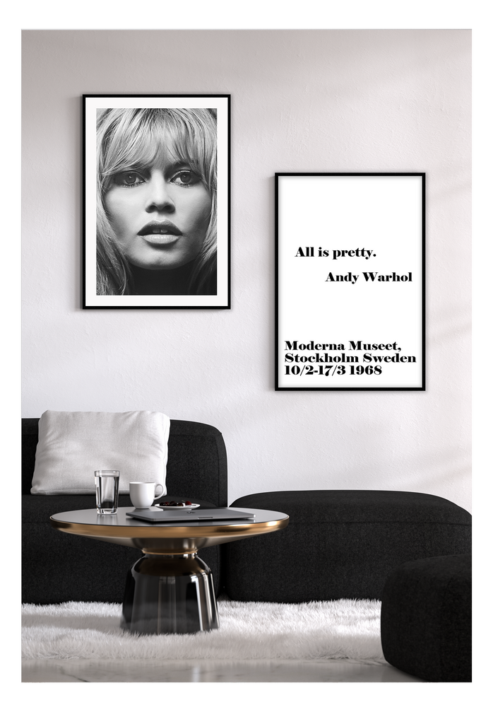 Brigitte Bardot Model Fashion Iconm Black And White Print Wall Print Framed Art Poster Image Online Photo Painting Living