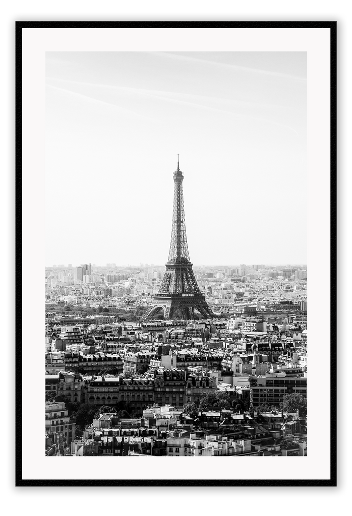 Black And White Urban City View Paris Eiffel Tower Print Wall Print Framed Art Poster Image Online Photo Painting Living