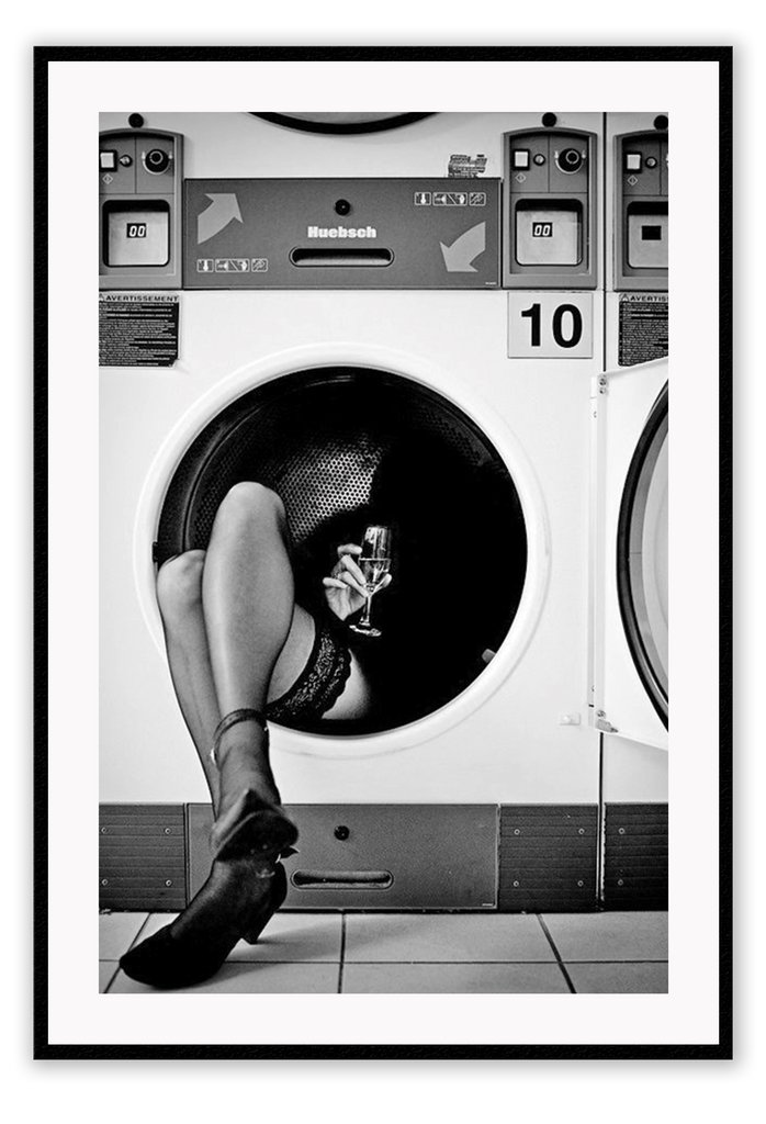 model washing machine legs tulle legs  - wall art framed print decor
