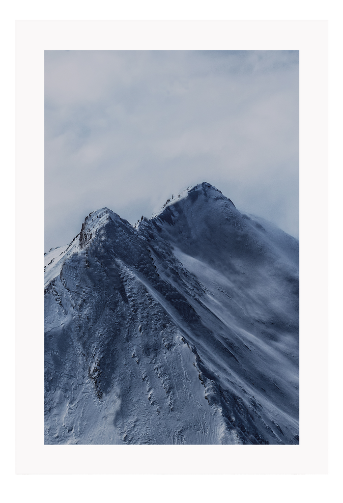 Natural White Snow Blue Mountain Altitude Nature Print Wall Print Framed Art Poster Image Online Photo Painting Living Lounge
