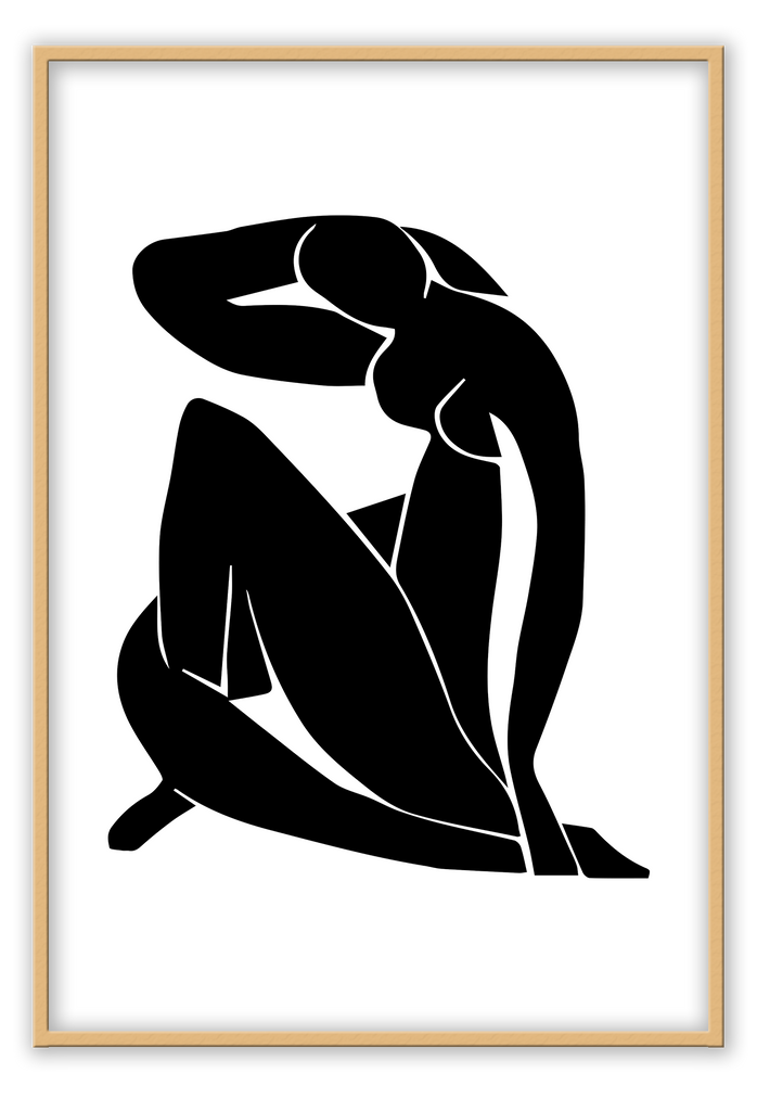 Sketch Black White Body Line Minimalistic Simple Drawing Print Wall Print Framed Art Poster Image Online Photo Painting