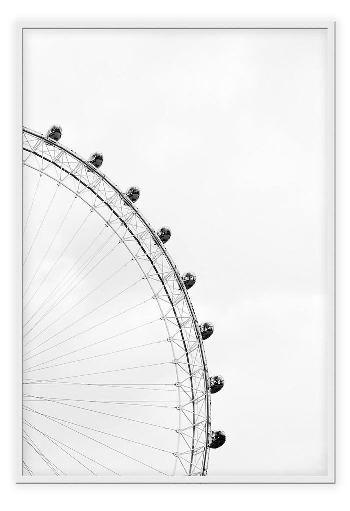 Ferris Wheel Black And White Nursery Kids Simple Kids Ride Sky Grey Sky  Print Wall Print Framed Art Poster Image Online