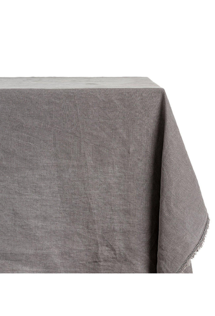 Bays Linen Tablecloth Rectangle - Dark Grey