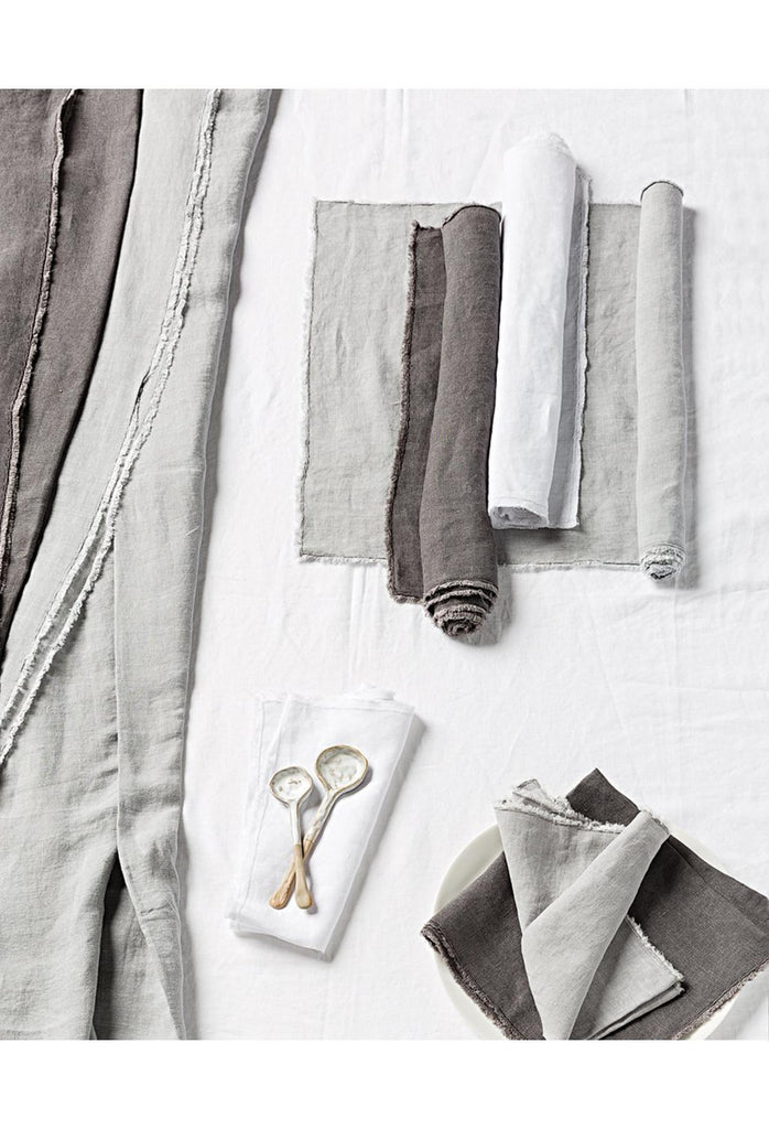 Bays Linen Tablecloth Rectangle - Pebble Grey
