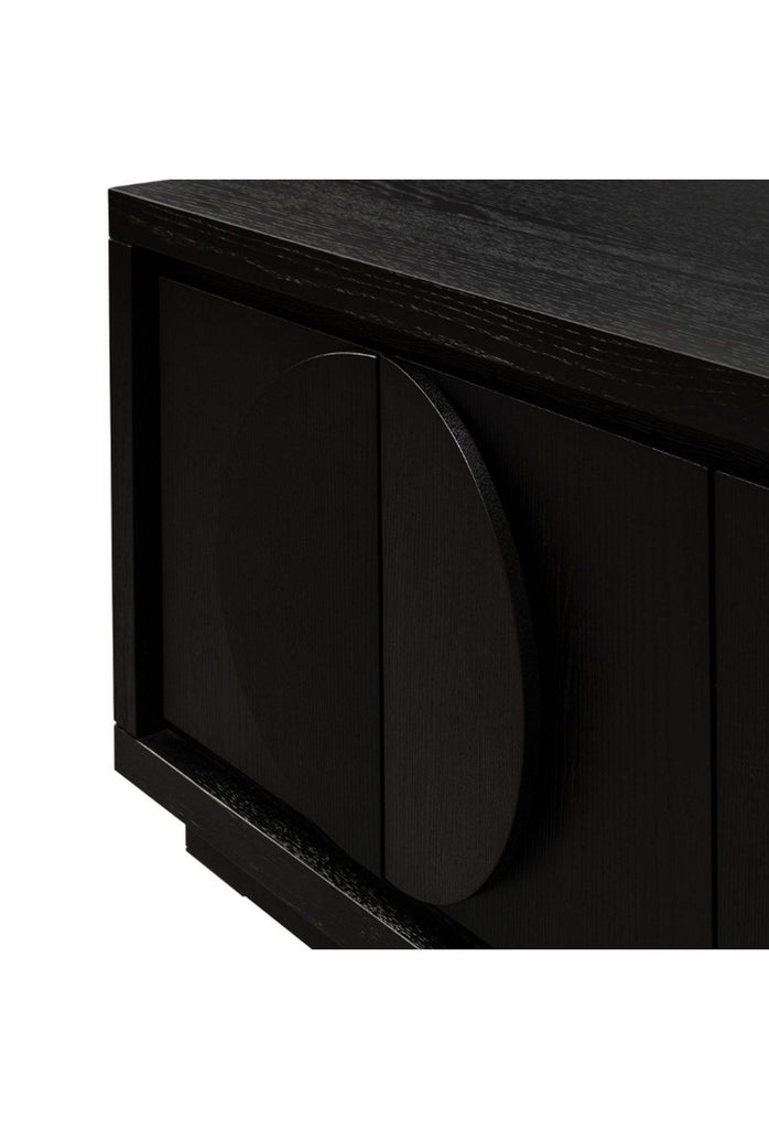 Cele TV Entertainment Unit - Textured Ebony Black