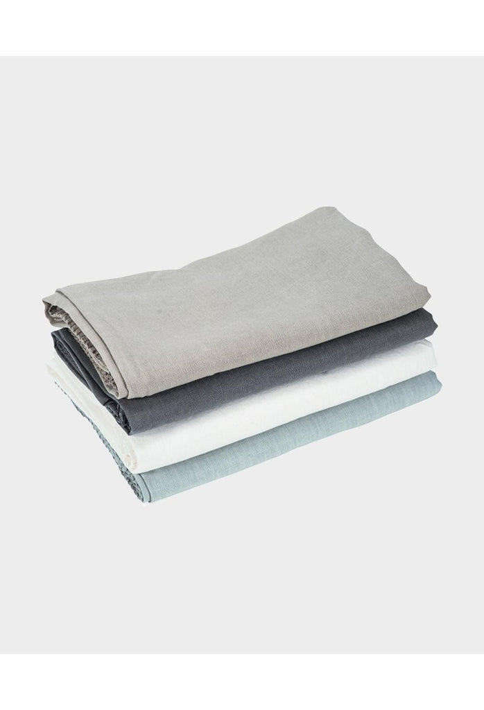 Clare Linen Tablecloth Rectangle - Charcoal