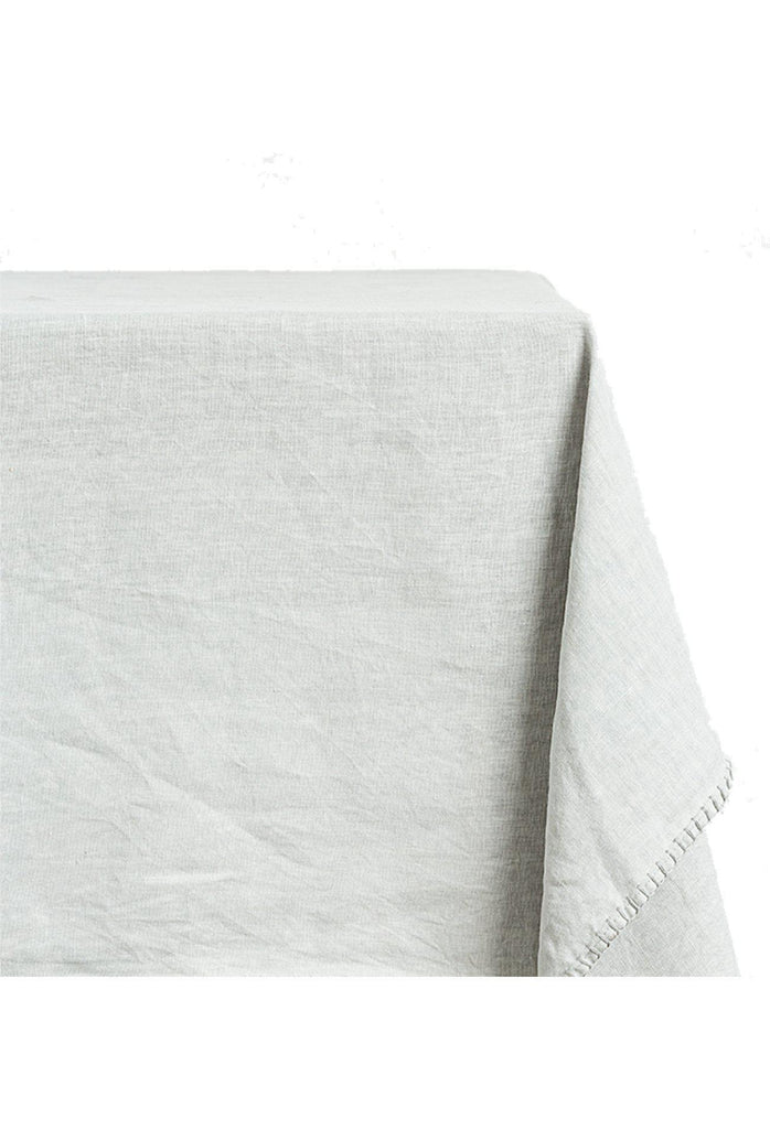 Clare Linen Tablecloth Rectangle - Pearl Grey
