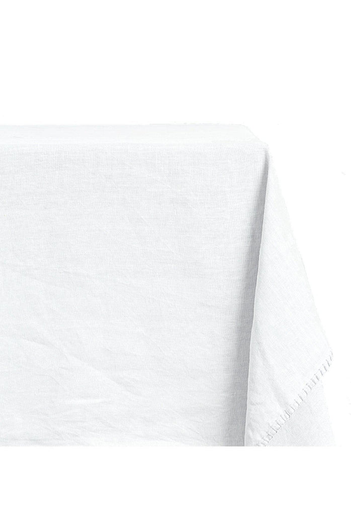 Clare Linen Tablecloth Rectangle - White