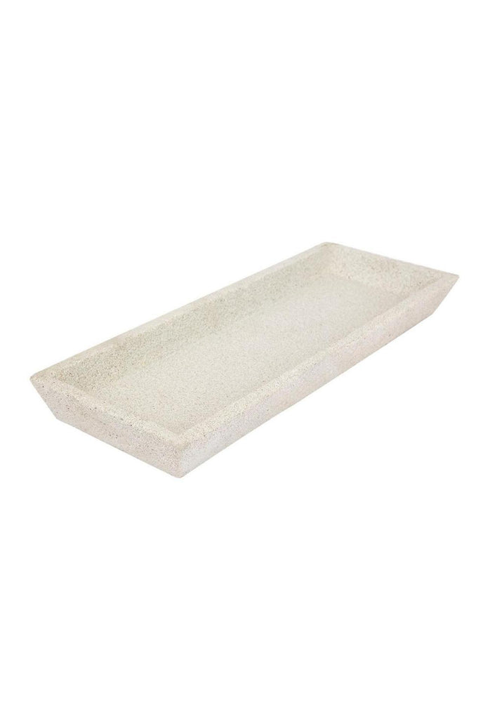 Concrete Rec Tray White