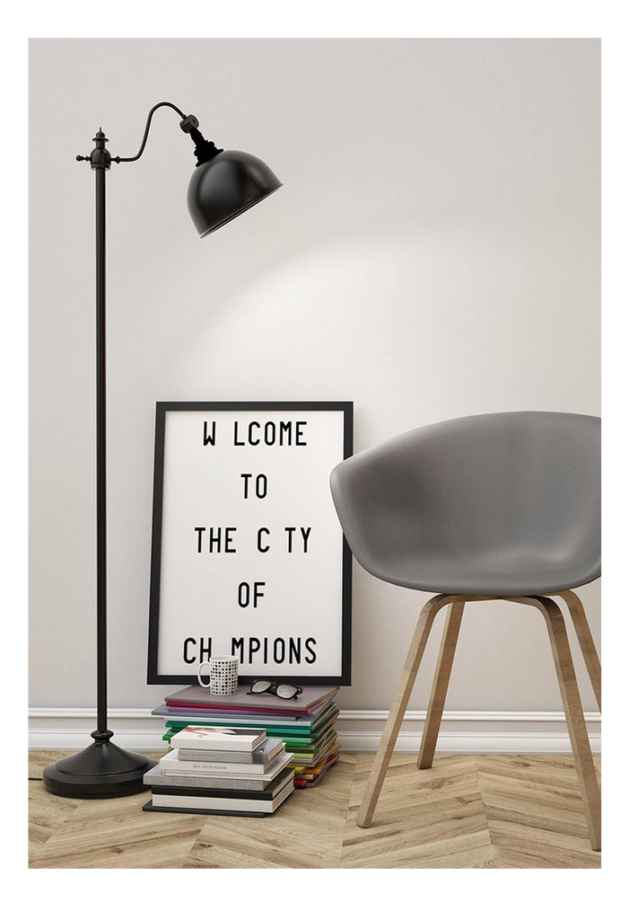 Welcome To The City Of Chamption Typography Scandi Letters  Print Wall Print Framed Art Poster Image Online Photo Painting