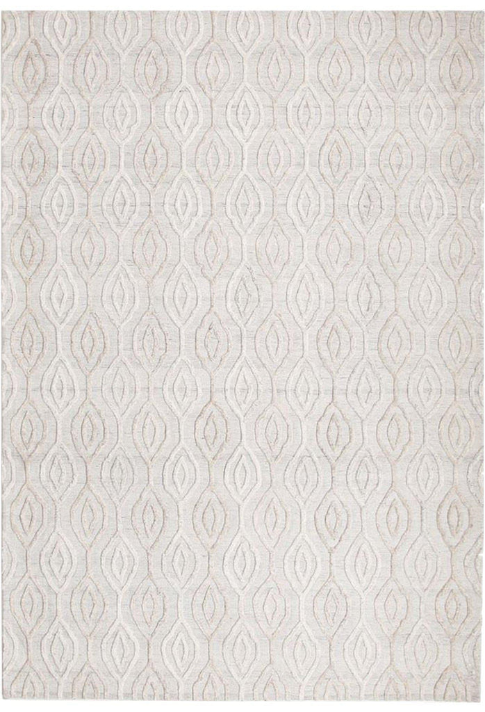 Diamond Rug White