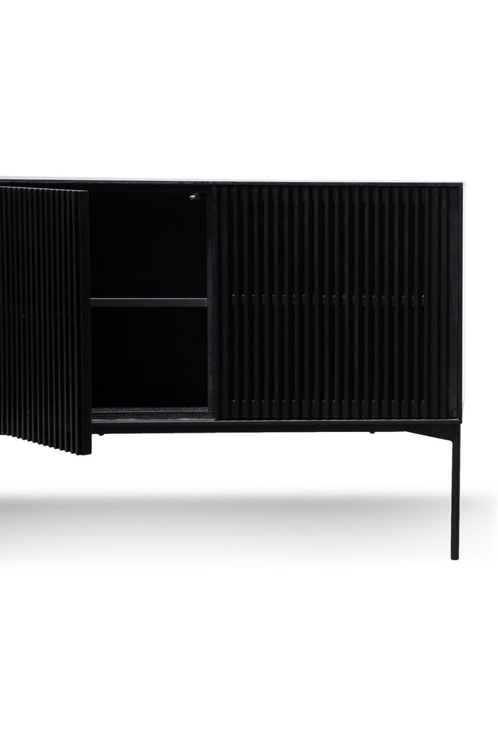 Duvan Sideboard with Drawers - Black Oak