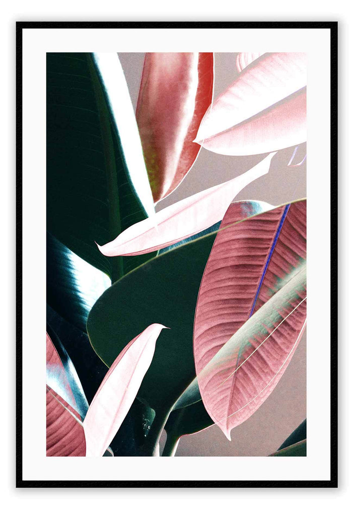 Botanical Green Nature Plants Leaves Print Wall Print Framed Art Poster Image Online Photo Painting Living Lounge Bedroom