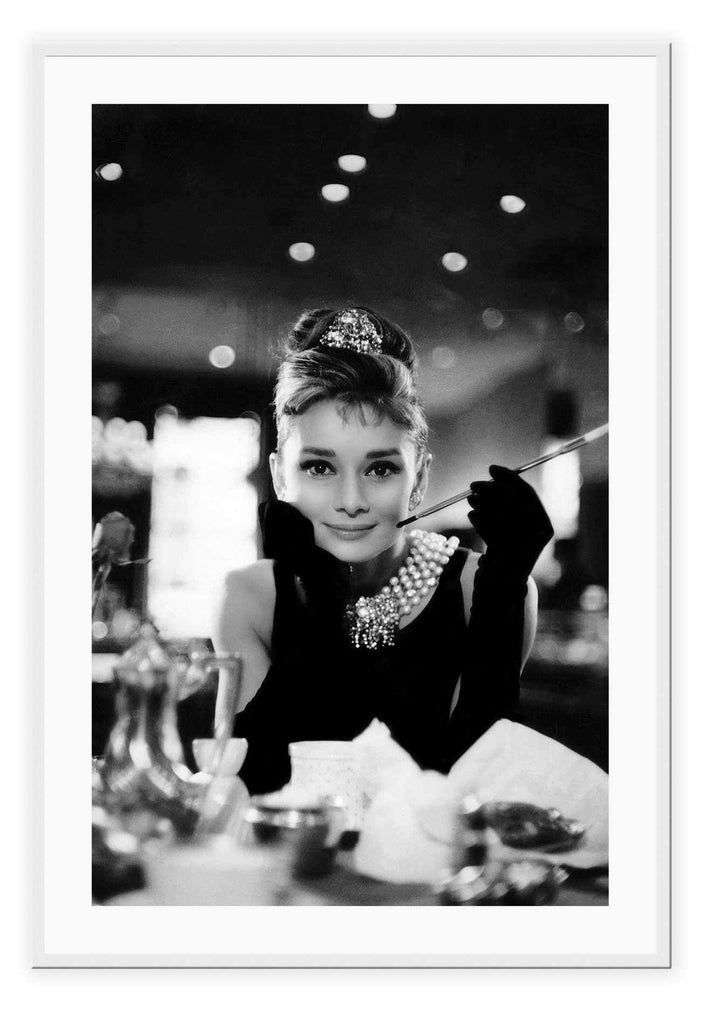 Breakfast At Tiffany Audrey Hepburn Model Vintage 60S Movies Fashion  Print Wall Print Framed Art Poster Image Online Photo