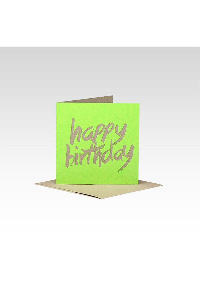 Fluro Greeting Card (Mini) HB Green