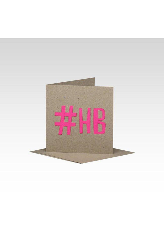 Fluro Greeting Card (Mini) #HB Pink