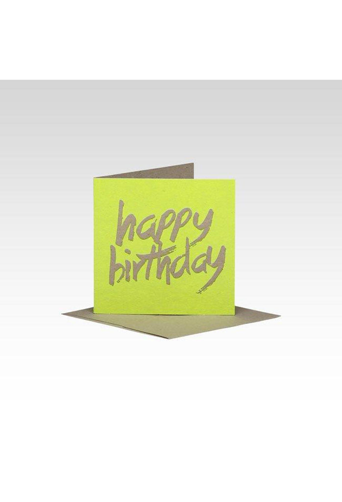 Fluro Greeting Card (Mini) HB Yellow