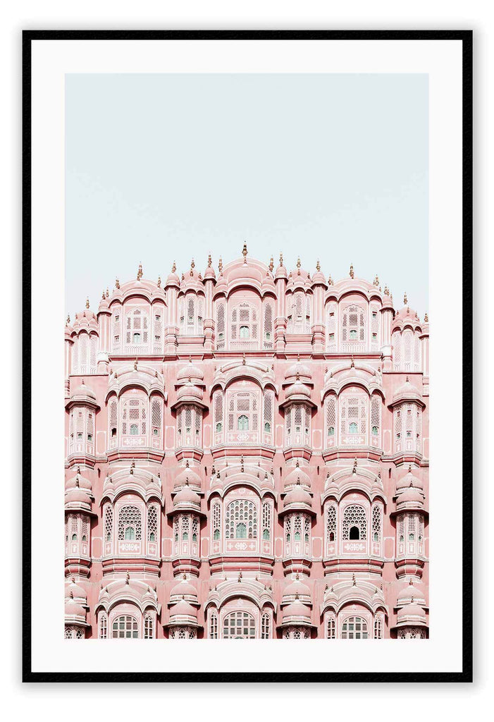 India Islam Building Pink Muslim Architecture  Print Wall Print Framed Art Poster Image Online Photo Painting Living Lounge