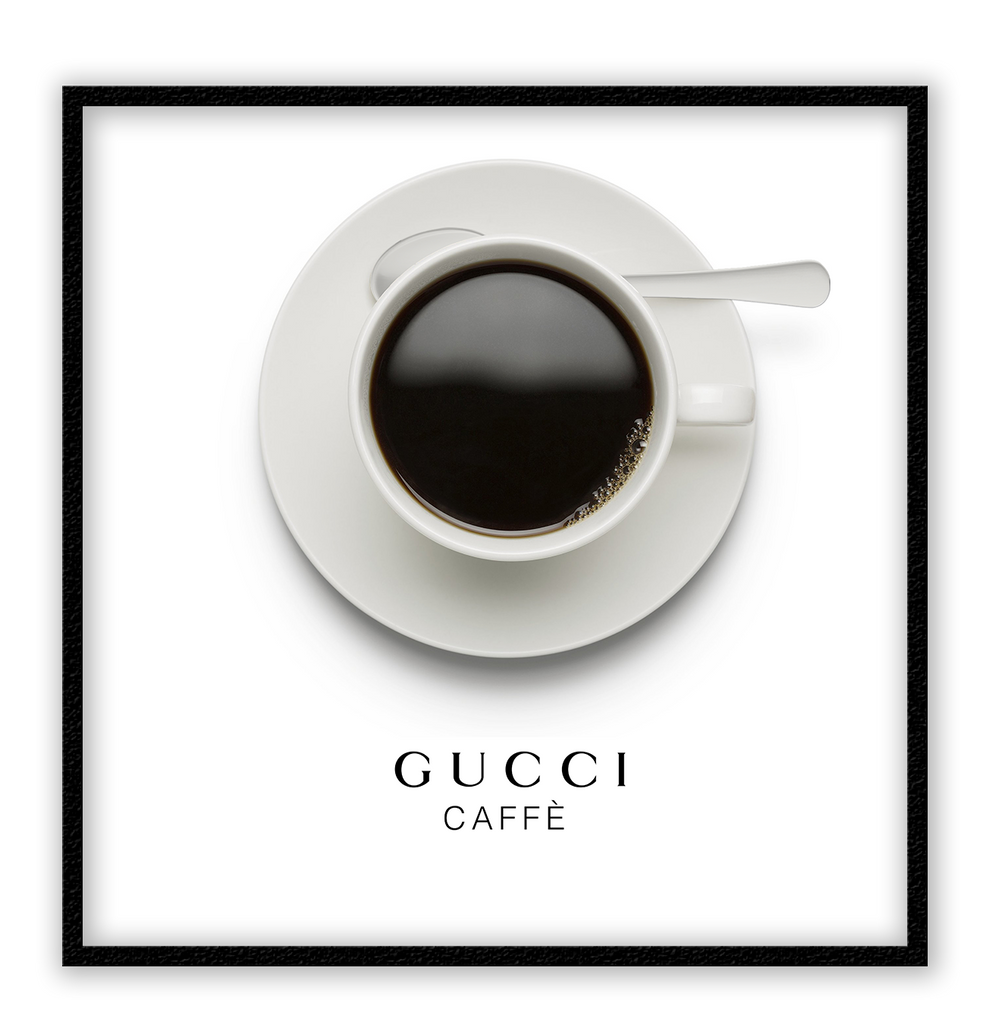 Gucci Caffe Coffee Fashion Label Fashion Gucci Caffè Gucci Cafe Italy Italian Cafe Print Wall Print Framed Art Poster Image