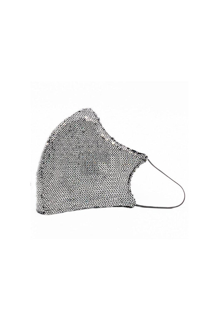 Glam Silver Sequin Mask