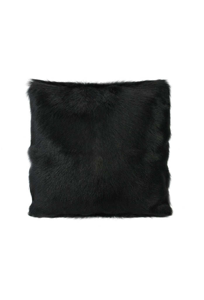 Goat Fur Cushion - Black