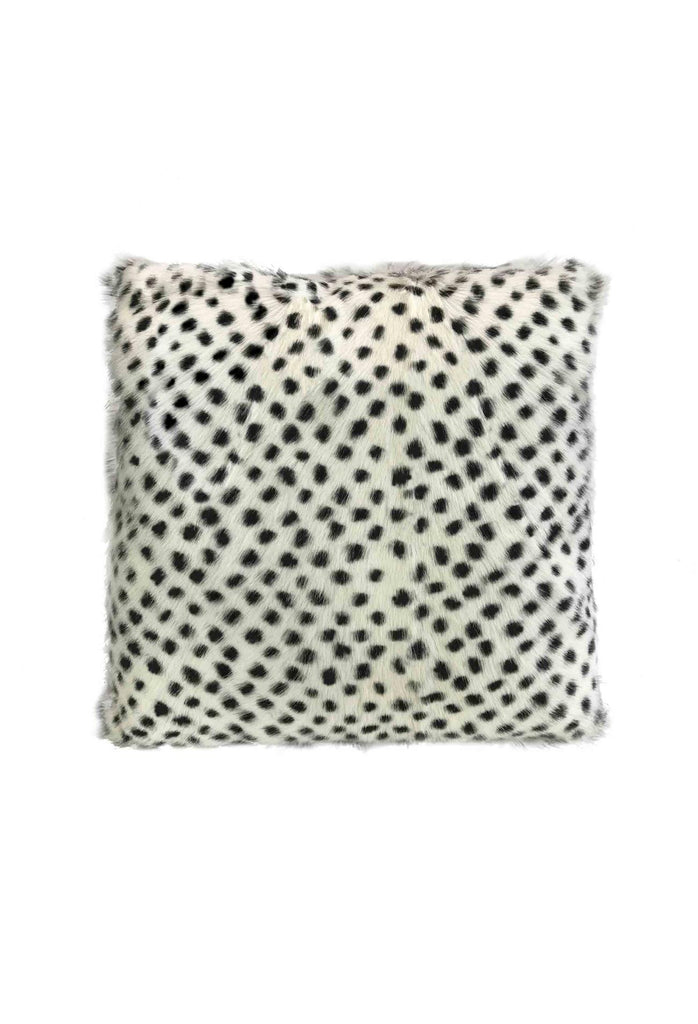Goat Fur Lumbar Cushion - Serengeti White