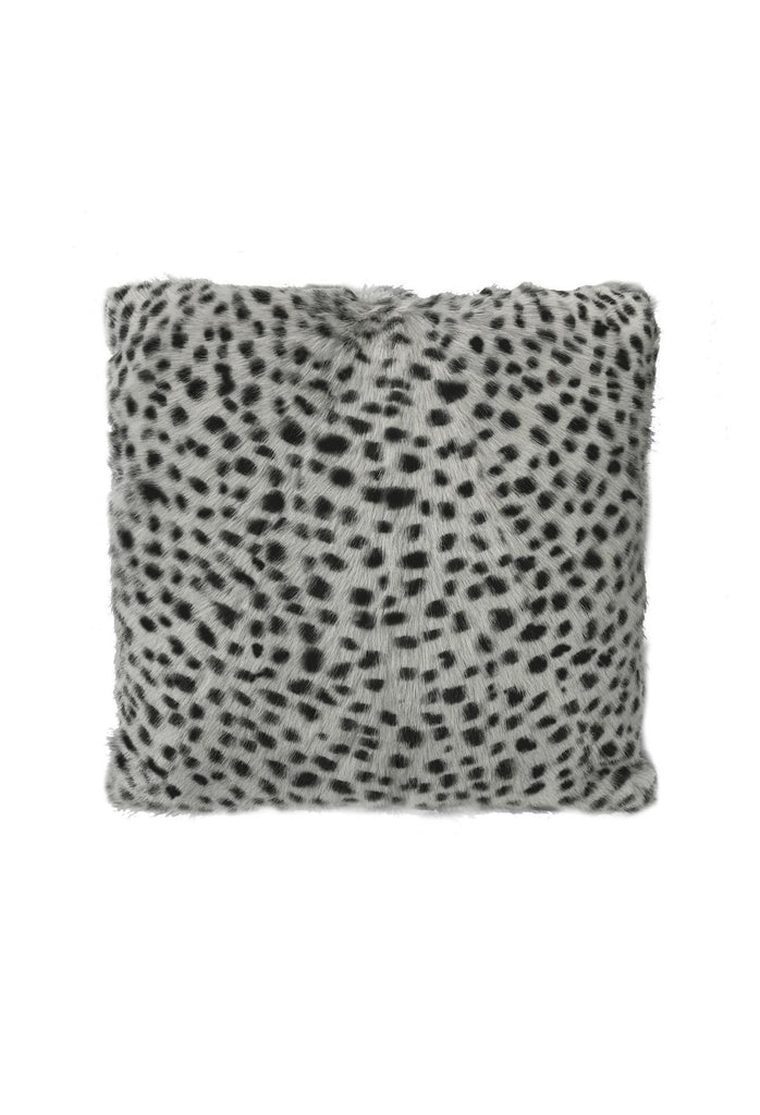 Goat Fur Lumbar Cushion - Serengeti Grey