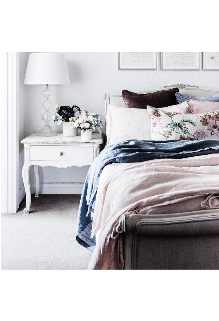 Linen Duvet Set - Blush