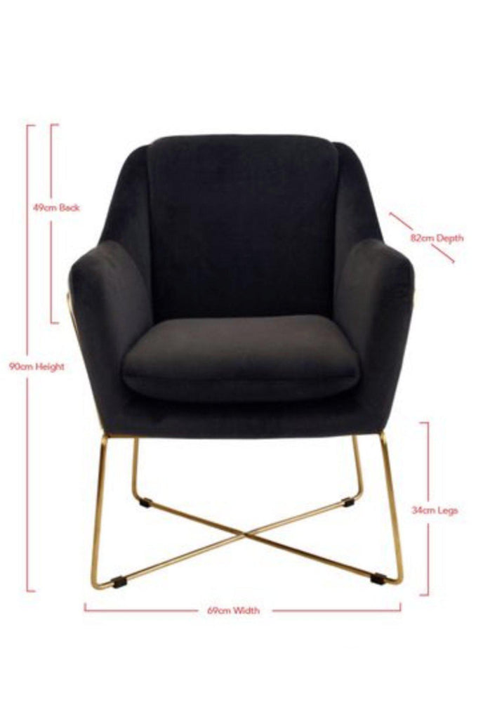 Millie armchair - Black