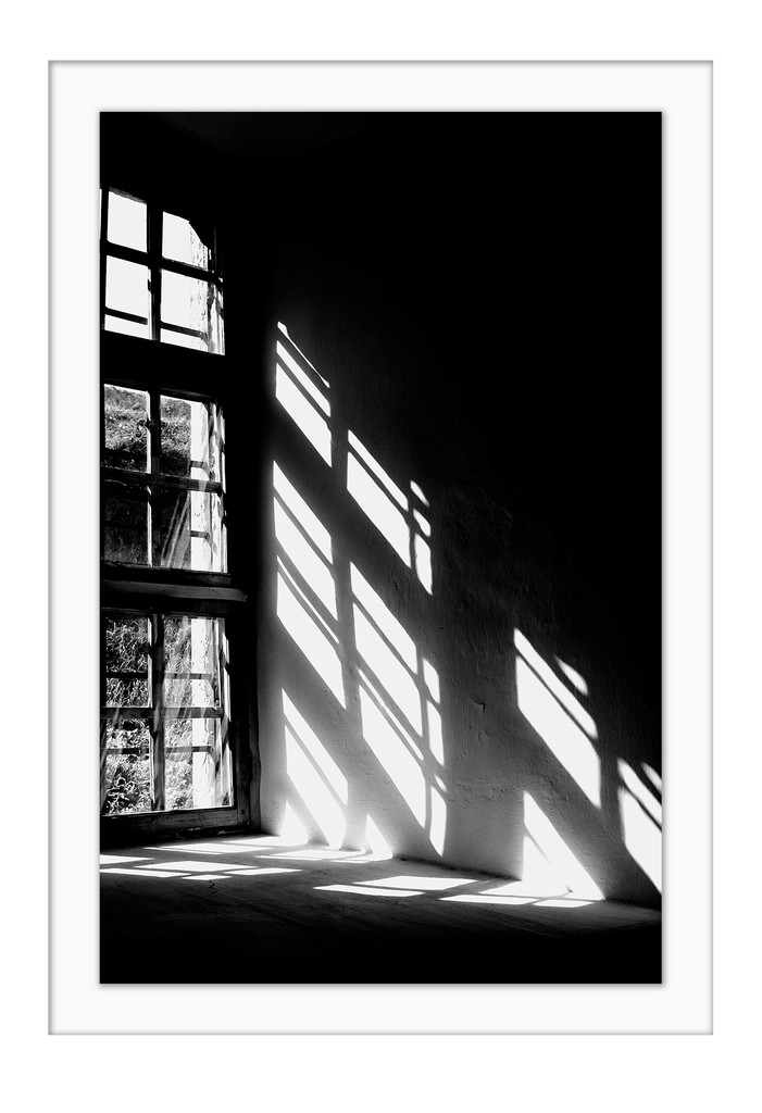 Window Door Room Shadow Black White Empty Room Living Print Wall Print Framed Art Poster Image Online Photo Painting Living