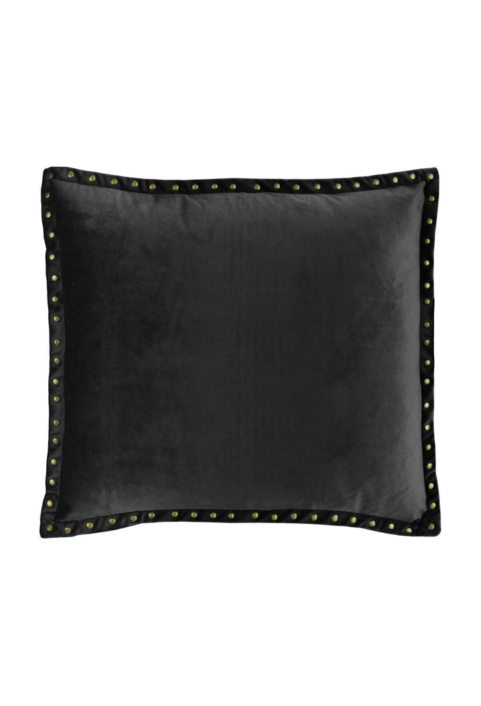 Semplice studded Cushion - Charcoal