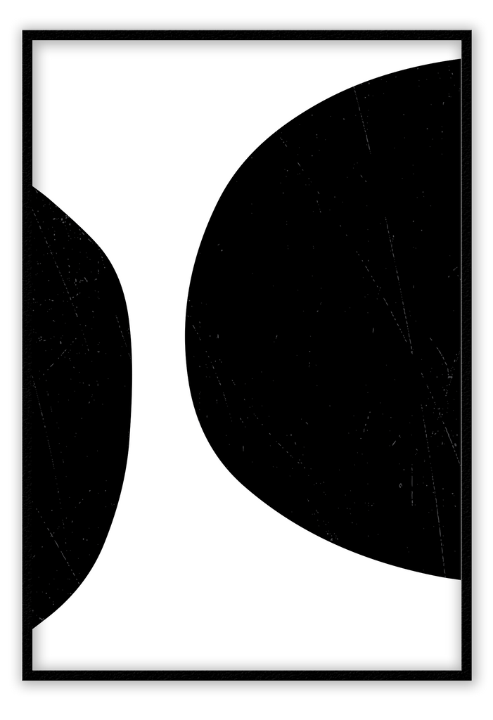 Abstract Circles Black And White Print Wall Print Framed Art Poster Image Online Photo Painting Living Lounge Bedroom Room