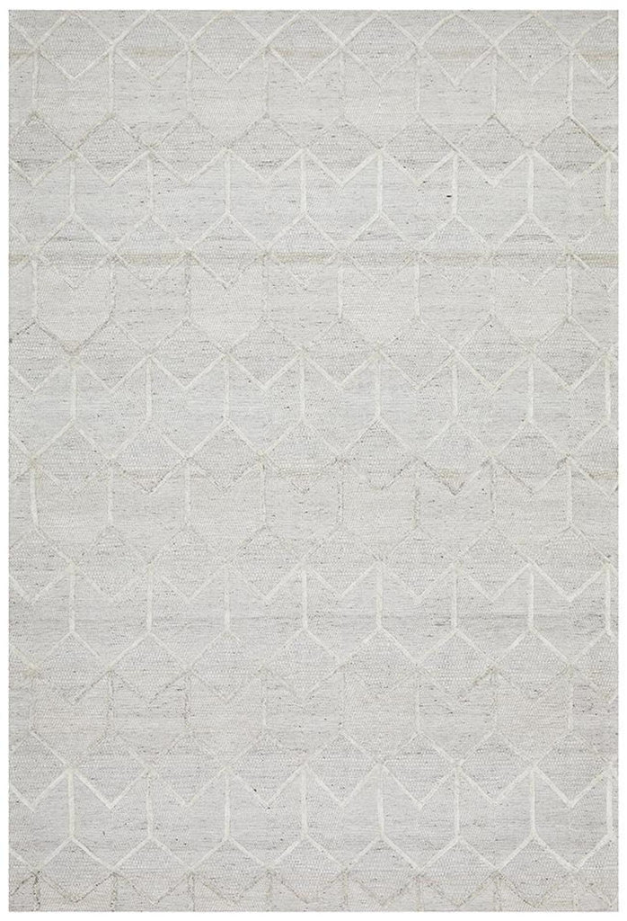 Vicenza Winter Grey Brush Modern Rug