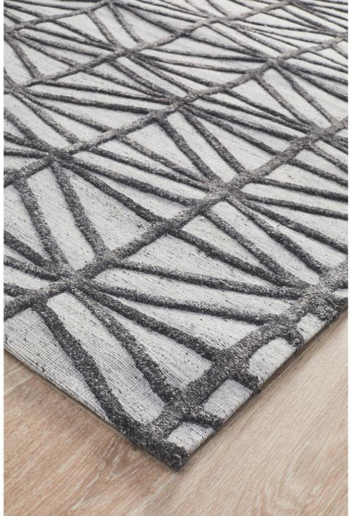 Vicenza Winter Pewter Prestige Modern Rug