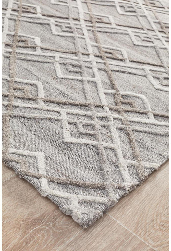 Vicenza Winter Silver Stream Modern Rug