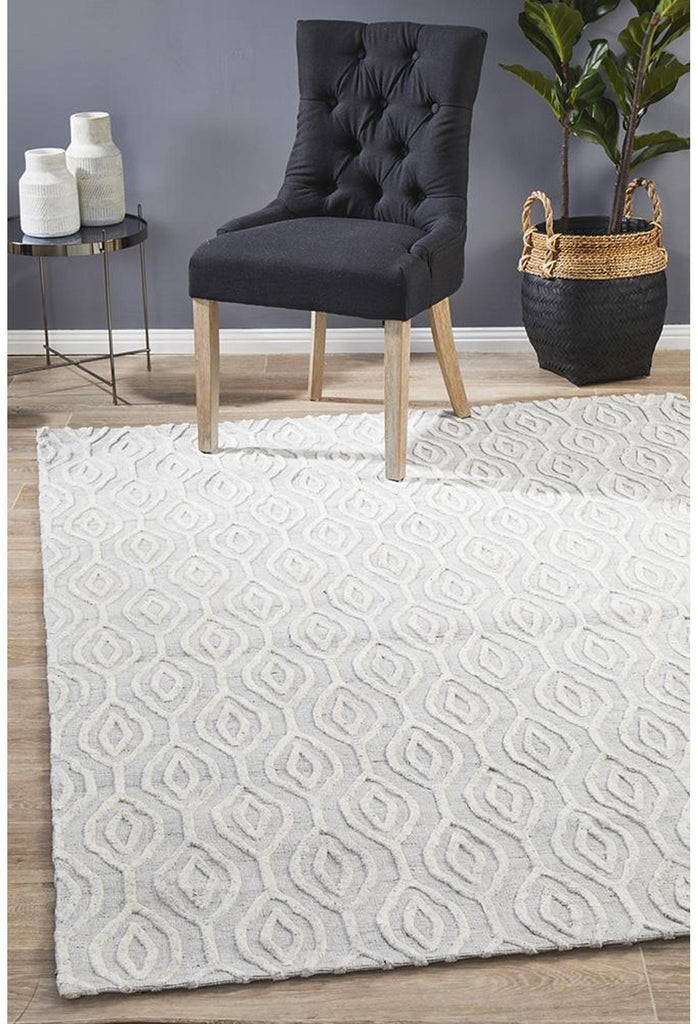 Vicenza Winter Wish White Modern Rug