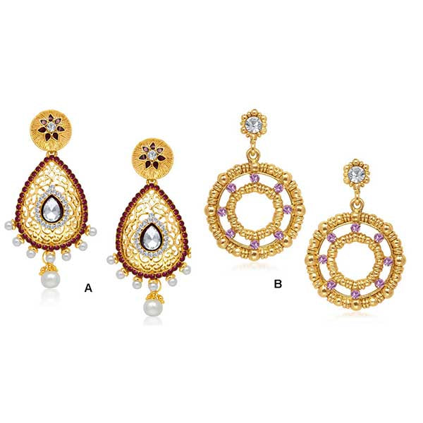 14Fashion Set Of 2 Earrings Combo