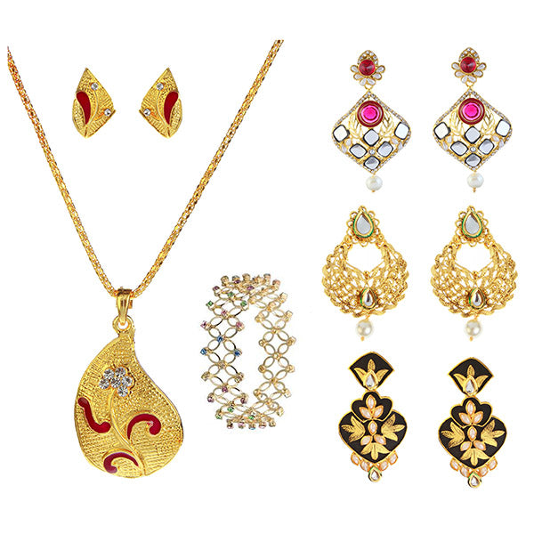 14Fashion Set Of 5 Jewellery Combo