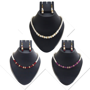 14Fashions Set Of 3 Pearl Mala Jewellery Combo