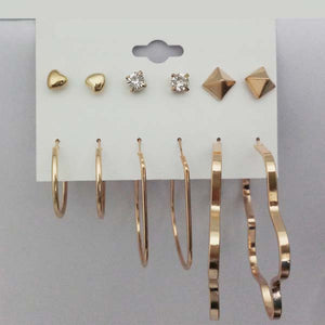 14Fashions Set of 6 Earrings Combo