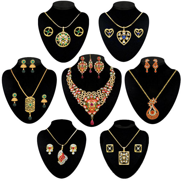 14Fashions Set Of 7 Jewellery Combos