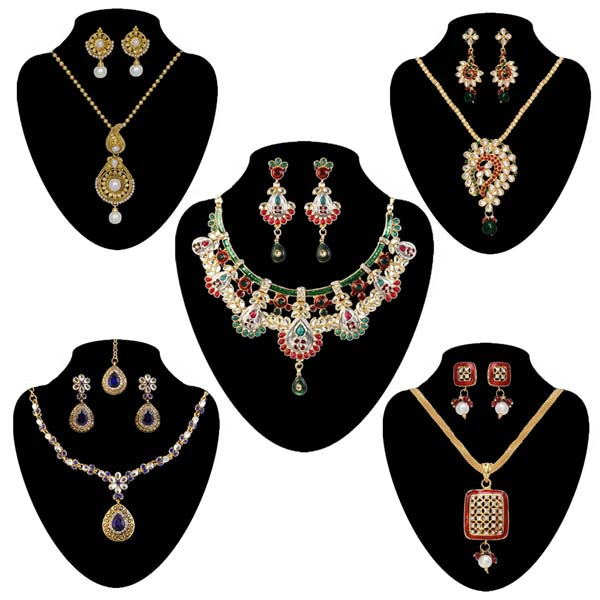 14Fashions Set Of  5 Jewellery Combo