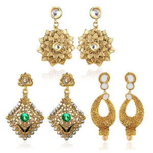 14Fashion Set Of 3 Earrings Combo