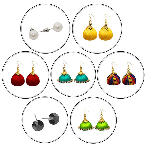 14Fashions Set of 7 Earrings Combo